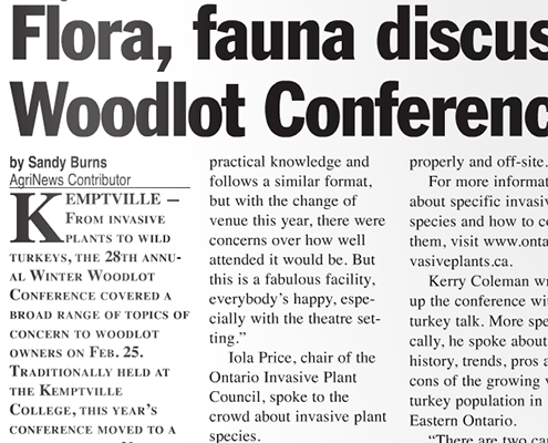 Flora, fauna discussed at Woodlot Conference