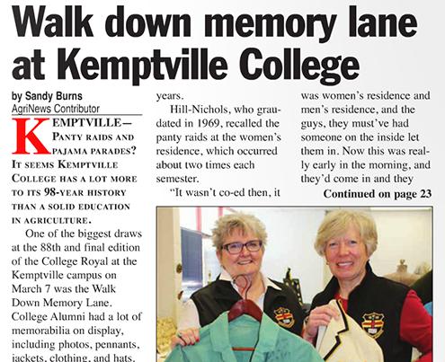 Walk down memory lane at Kemptville College