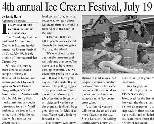 4th annual Ice Cream Festival, July 19