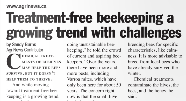 Treatment-free beekeeping a growing trend with challenges