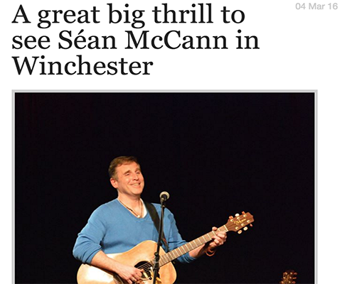 A great big thrill to see Séan McCann in Winchester