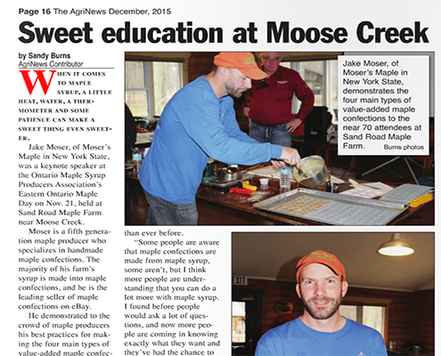 Sweet education at Moose Creek