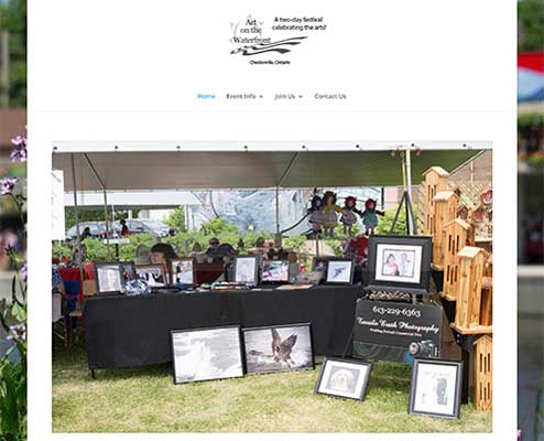 Art on the Waterfront Website
