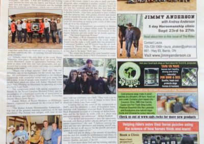 Article for The Rider newspaper