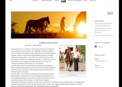 Liberty Lane Farm Website