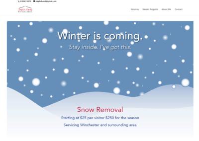 Steph's Handy Maintenance Services Website