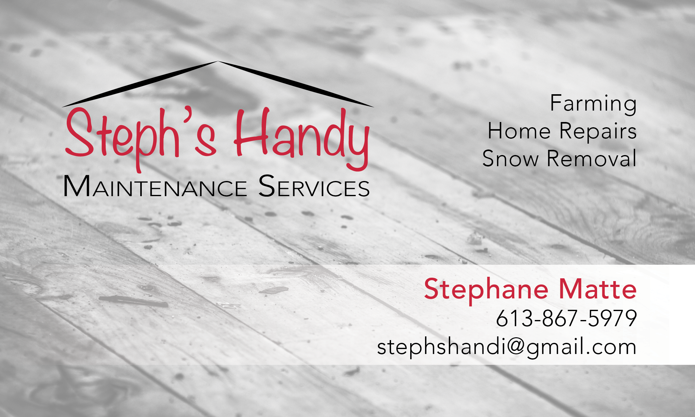 Steph\'s Handy Maintenance Services Flyer, Newspaper Ad and Business ...