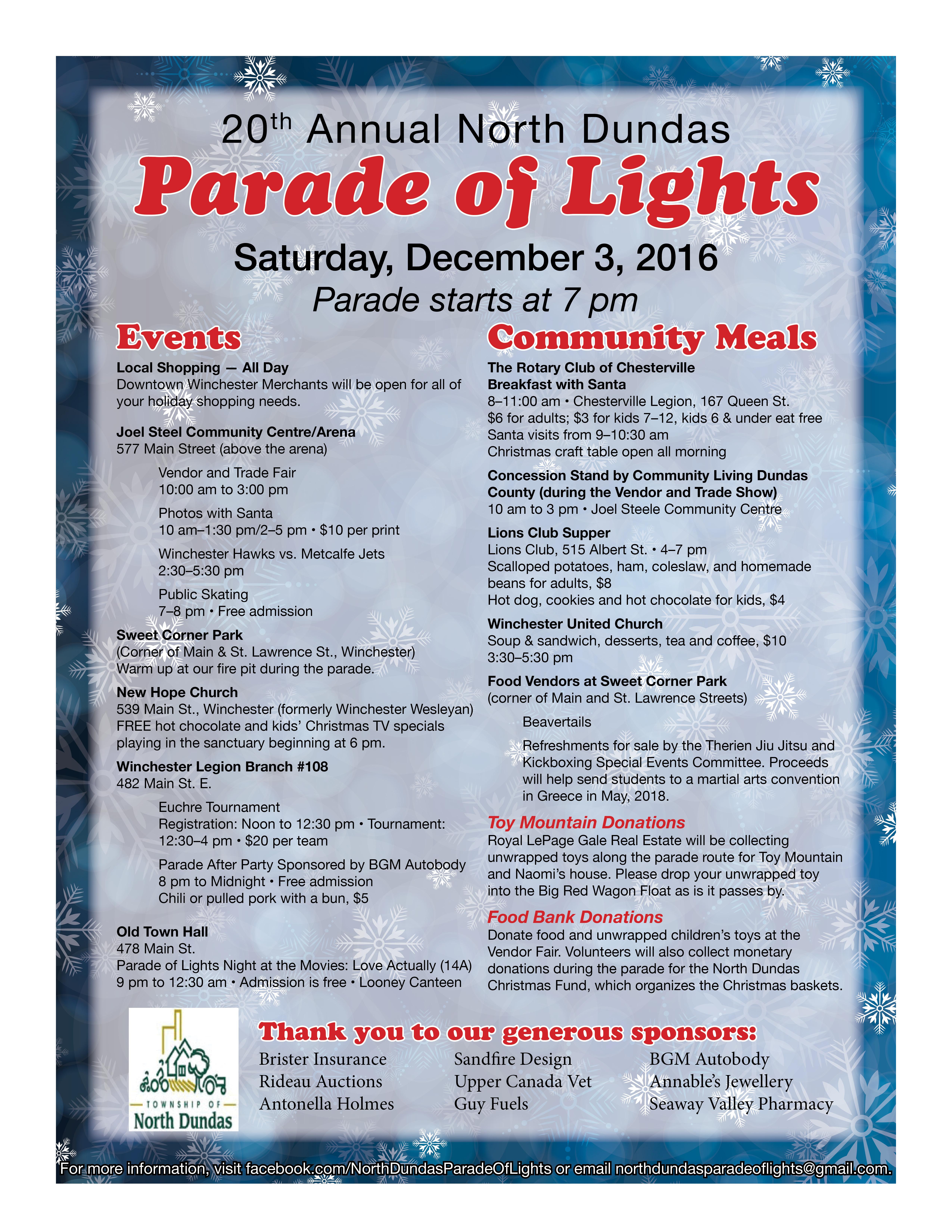 North Dundas Parade of Lights Poster