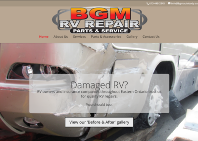 BGM RV Repair Website