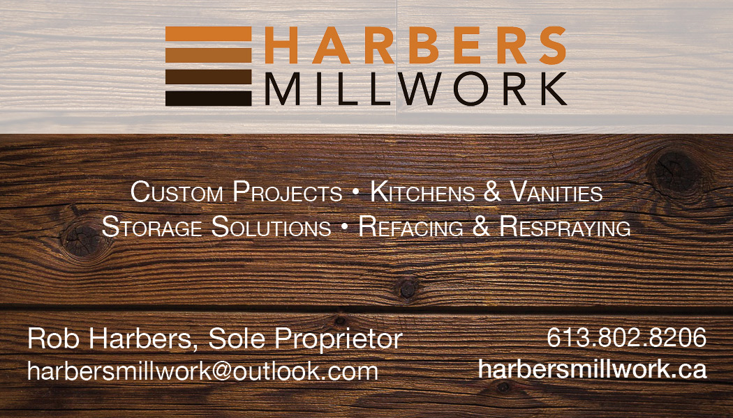 Harbers Millwork Business Card