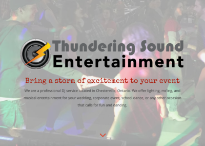 Thundering Sound Entertainment Website