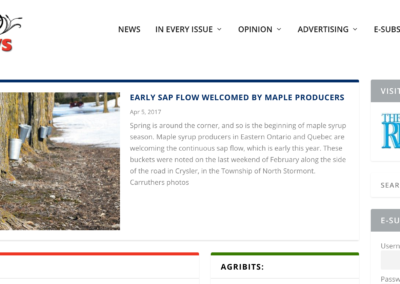 The Eastern Ontario AgriNews Website