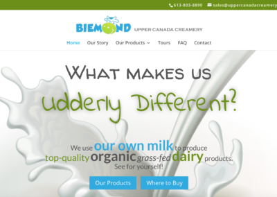 Upper Canada Creamery Website