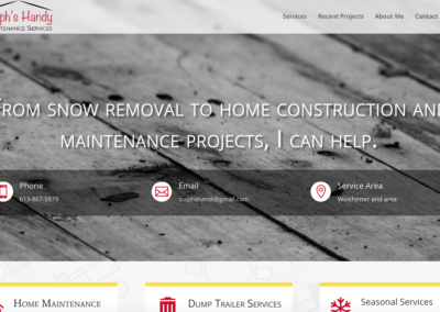 Steph's Handy Maintenance Services Website